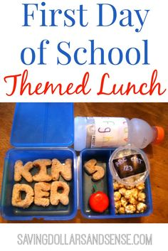 First Day of School Themed Lunch
