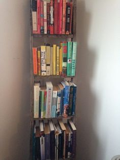A ladder for color-coded books! | 34 Small Things You Can Do To Make Your Home Look So Much Better