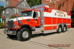 Westwood, NJ FD Rescue 17 2007 Mack Granite/Rescue 1 Heavy Rescue Squad.