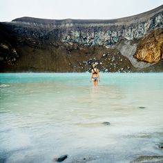 iceland - swimming in the viti by nasone, via Flickr