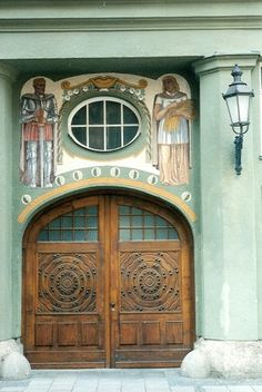 Decorative entrance - Munich by jrozwado, via Flickr