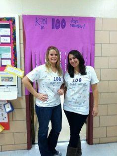 100 sight word t-shirts for the 100th day of school!   P.S 112  NY,NY