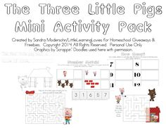 The Three Little Pigs - {Mini-Activity Pack} - Little Learning Lovies