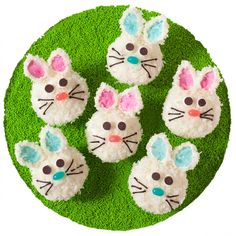 Spring is hopping along and #Easter is almost here! Get the recipe to celebrate with our adorable Bunny Face Cupcakes.
