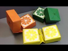 Origami Sliced Citrus Fruit Cubes - Print at Home - YouTube