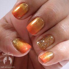 Glittery Fall Gradient - Nail Envy