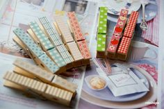 Clever Washi Tape Clothes Pins!