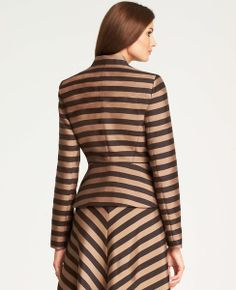 Regents Striped Peplum Jacket | Ann Taylor