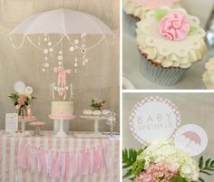 Rain Themed Pink Baby Sprinkle with So Many REALLY CUTE IDEAS via Kara's Party Ideas | KarasPartyIdeas.com #BabyShower #Party #Ideas #Supplies (1) pink babi, sprinkle shower, babi showersip, sprinkle party, baby sprinkle, shower idea, baby shower parties, babi sprinkl, baby showers
