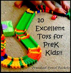 10 Excellent Toys for Preschoolers--promote early learning, problem solving, and more!  #preschool #gifts