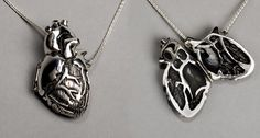 locket-style anatomical heart pendant