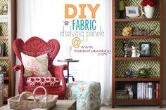 Tweak It Tuesday -fabric backed bookshelf