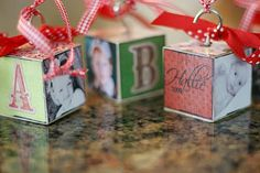 christmas presents, gift ideas, homemade ornaments, photo ornaments, christma block
