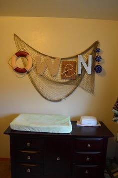 Nautical decor Large Wall Letter by BrynNicholle on Etsy, $16.00 @jen Inumerable Renee Thomas I need your help making this!