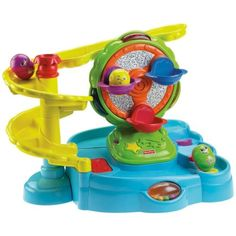 Fisher-Price Topzy Tumblers Twirlin' Tumblin' Fun Park. Recommended age: 6 months - 4 years.