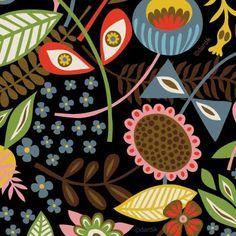 floral patterns, orang, artsi pattern, print, helen dardik, dardik floral
