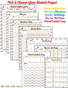 Editable Teacher Binder Organization Sheets!  You are going to love these matching Teacher Organization Sheets with a chevron/owl theme! All of these cute, life-long organization sheets are completely editable.  You can use this year after year! There are also covers that are completely editable - Use them to for all your binders to create matching organization by colors.$