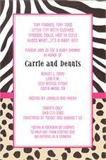 Animal print invitations