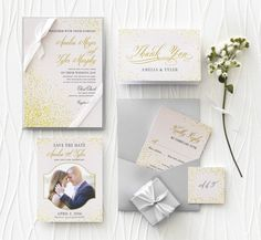 Inspired Romantic Wedding Invitation from @Wedding Paper Divas