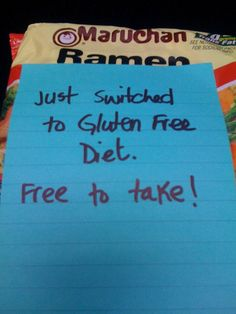 Getting started going gluten free