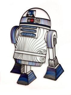 Quilled R2D2 by AliaDesign on Etsy