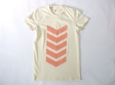 Coral Chevrons Organic Tee by JessalinBeutler on Etsy, $28.00