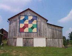 Quilt inspired barn
