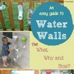 P is for Preschool - water walls