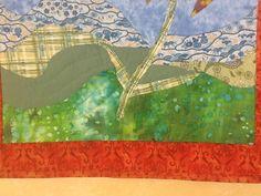 cone flower pictoral quilt  bottom part