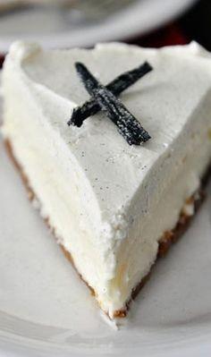 Vanilla Bean White Chocolate Mousse Cheesecake