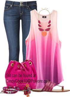 """""""Pretty Tank Top"""" by cindycook10 on Polyvore"""