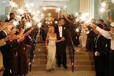 Love the Sparklers for an evening wedding