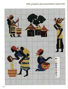 Africa, grid, pixelated, cross-stitch pattern