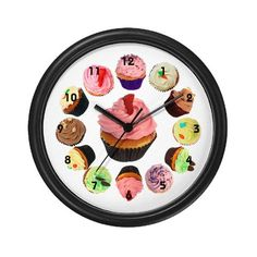 Cupcake clock - a flavour for every hour! only £11.50 from cafepress.co.uk