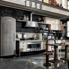 Retro contempo kitchen places-spaces