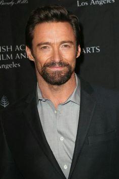 a bearded Hugh Jackman