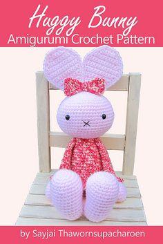 Ravelry: Huggy Bunny Amigurumi Crochet Pattern pattern by Sayjai Thawornsupacharoen.