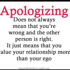 Aplogizing