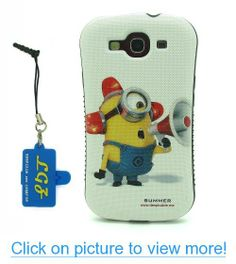 DD(TM) Style 8 Funny Cartoon Despicable Me 2 Yellow Henchmen Minions TPU Soft Case Cover Skin for Samsung Galaxy S3 SIII i9300 with 3 in 1 Anti-dust Plug/LCD cleaning cloth/Cable tie