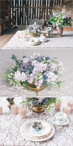 Blue and lavender wedding ideas.