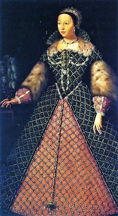 1555 Catherine de' Medici (1519-89), Queen of France (1547-59) possibly by Agnolo Bronzino