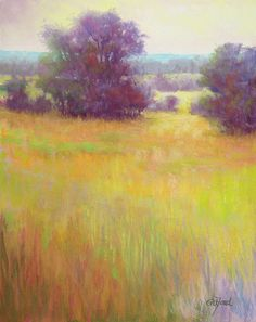 Dreamscape  Original Pastel Painting by Paula Ann Ford