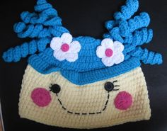 LaLaLoopsy Girls Winter Fall Crochet Handmade Hat Cap Beanie Lala Loopsy Marina Anchors Rosy Bumps n Bruises Mittens Fluff n Stuff. $15.00, via Etsy.