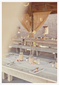 gorgeous table set up
