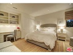 A great space that can be used as a guest bedroom. It has room for a large bed, a desk / study space, and plenty of storage. And how lovely is the creme color scheme? v Malibu, CA Coldwell Banker Residential Brokerage $15,900,000