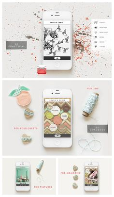Appy Couple –The Stylish Wedding App! Love this set of designs!