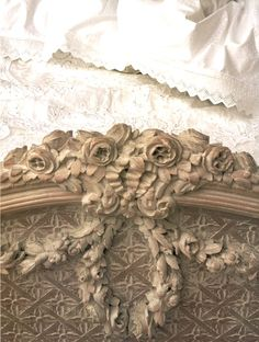 Footboard detail on a French bed