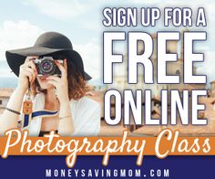 Want to improve your photography skills? Sign up for this FREE online Photography Class!