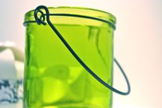 Scented Soy Candle in Hanging Lime Green Container by CandleAllure, $18.00