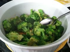 Easy Broccoli Side Dish. brown sugar, soy sauce, garlic, butter, and broccoli. trying it!